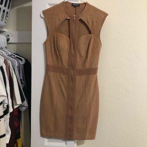 Velvet Nude Cut Out Dress
